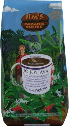 Jim's Organic Jo/Jo Java Whole Bean Coffee
