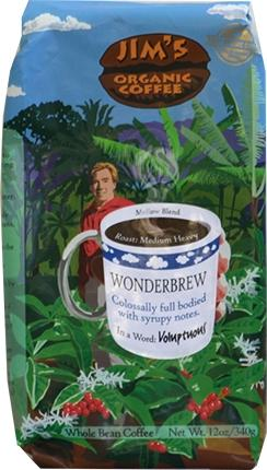 Jim's Organic Wonder Brew Whole Bean Coffee