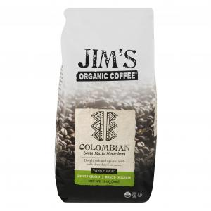 Jim's Organic Columbian Whole Bean Coffee
