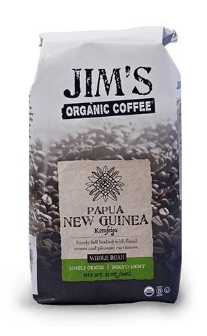 Jim's Organic Papua New Guinea Whole Bean Coffee