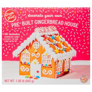 Create-A-Treat Pre-Built Gingerbread House Kit