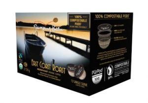 Jumping Bean Organic East Coast Roast Coffee Pods