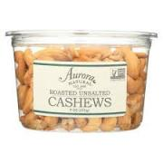 Aurora Natural Roasted Unsalted Cashews