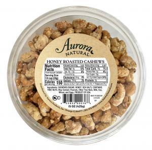 Aurora Natural Honey Roasted Cashews