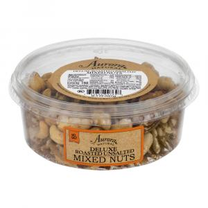 Aurora Natural Deluxe Roasted Unsalted Mixed Nuts