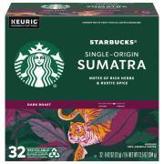 Starbucks Sumatra Dark Roast Ground Coffee K-Cups