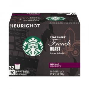 Starbucks French Roast Dark Roast Ground Coffee K-cups