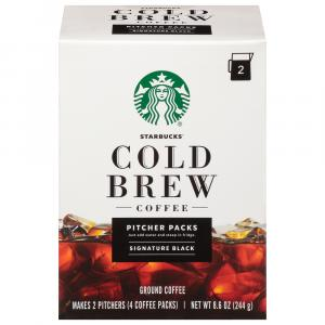Starbucks Black Cold Brew Coffee 2 Pitchers Pack