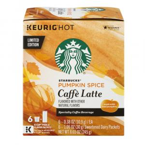 Starbucks Pumpkin Spice Cafe Latte K-Cups
