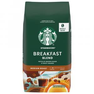 Starbucks Breakfast Blend Whole Bean Coffee
