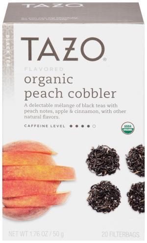 Tazo Organic Peach Cobbler Tea Bags
