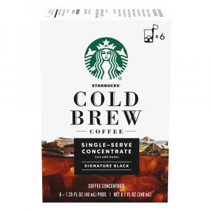 Starbucks Cold Brew Single Serve Concentrate Signature Black