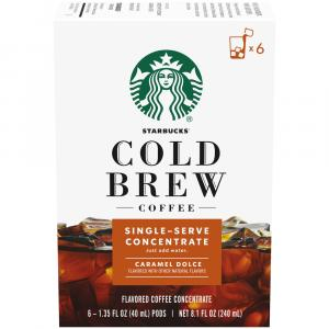 Starbucks Cold Brew Single Serve Concentrate Caramel Pods
