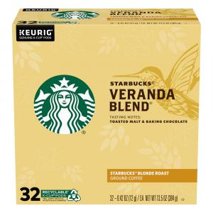 Starbucks Veranda Blend Blonde Roast Ground Coffee K-Cup