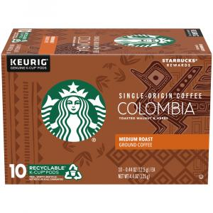 Starbucks Columbia Medium Roast Ground Coffee K-Cups