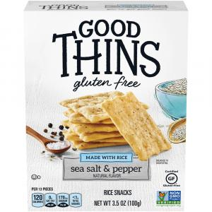 Nabisco Good Thins Sea Salt & Pepper Brown Rice Snacks