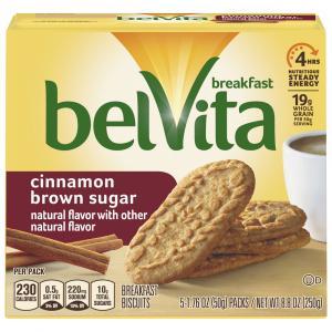 Nabisco BelVita Cinnamon Brown Sugar Breakfast Biscuit