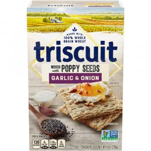 Triscuit Garlic & Onion Woven with Poppy Seeds