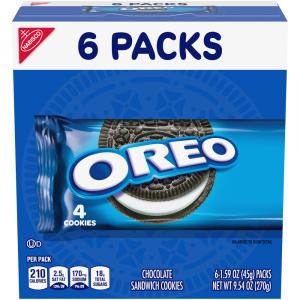 Nabisco Oreo 4 Cookies Single Serve Multi Pack