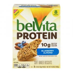 BelVita Protein Blueberry Almond Soft Baked Biscuits