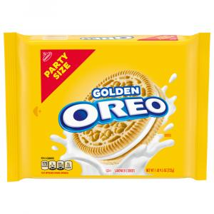 Oreo Golden Party Size Sandwich Cookies