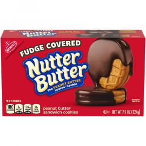 Nabisco Fudge Covered Nutter Butter Peanut Butter Cookies