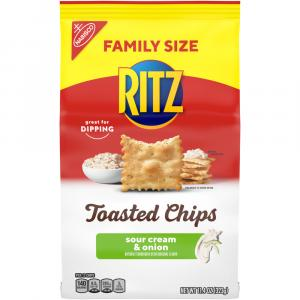Ritz Toasted Chips Family Size Sour Cream & Onion