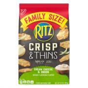 Ritz Crisp & Thins Cream Cheese & Onion Family Size