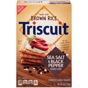 Triscuit Sea Salt & Black Pepper Flavor Brown Rice Crackers