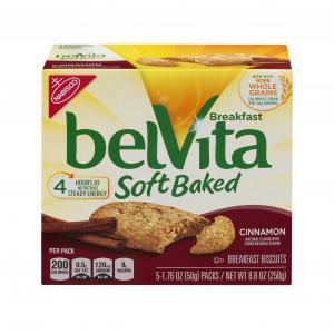 Nabisco Belvita Soft Baked Cinnamon Breakfast Biscuits