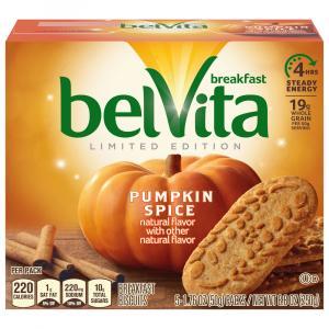 Nabisco BelVita Pumpkin Spice Breakfast Biscuits