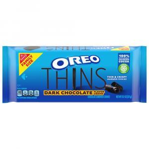 Oreo Thins Dark Chocolate Flavor Creme Family Size