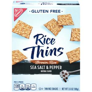 Nabisco Gluten Free Rice Thins Brown Sea Salt & Pepper