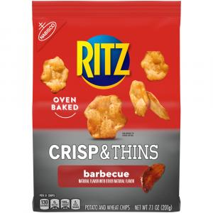 Ritz Crisp & Thins Barbecue Potato and Wheat Chips