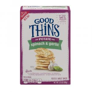 Nabisco Good Thins Potato Spinach and Garlic Crackers