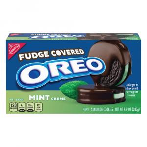 Oreo Fudge Covered Mint Creme Cookies