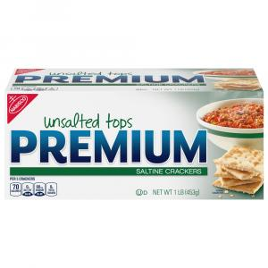 Nabisco Unsalted Premium Saltine Crackers