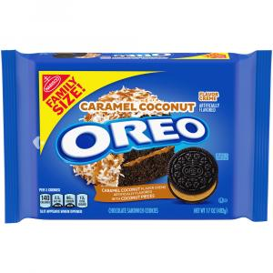 Oreo Caramel Coconut Chocolate Sandwich Cookies Family Size