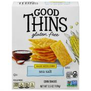 Nabisco Good Thins Gluten Free The Corn One Sea Salt