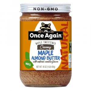 Once Again Creamy Maple Almond Butter with Vanilla Flavor