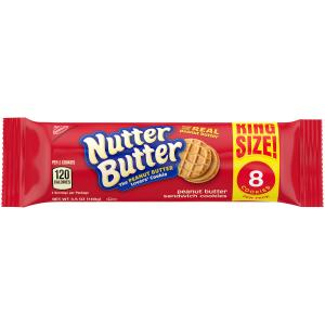 Nabisco King Size Nutter Butter Sandwich Cookies