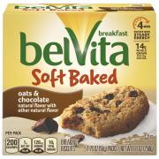 Nabisco BelVita Soft Baked Oats& Chocolate Breakfast Biscuit