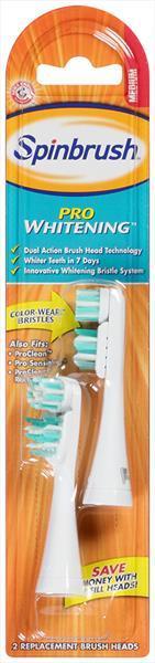 Spinbrush Pro Whitening Medium Replacement Heads