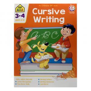 School Zone Cursive Writing 3-4 Workbook